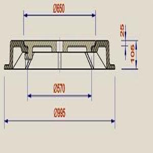 nắp ga gang thân tròn 2